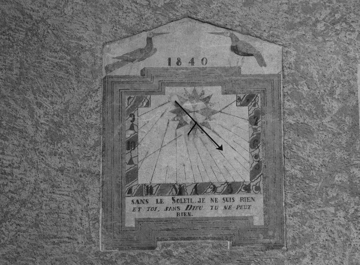 Cadran solaire, Saint-Véran ( Hautes-Alpes 05 ) A