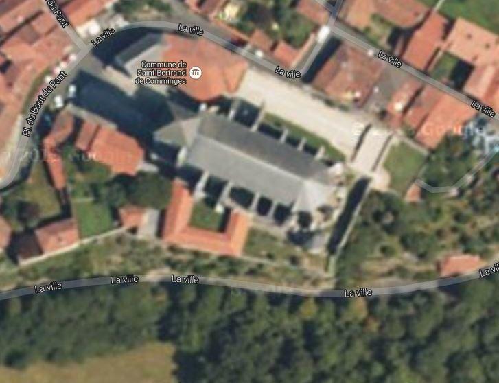 Vue aérienne sur Google Maps.