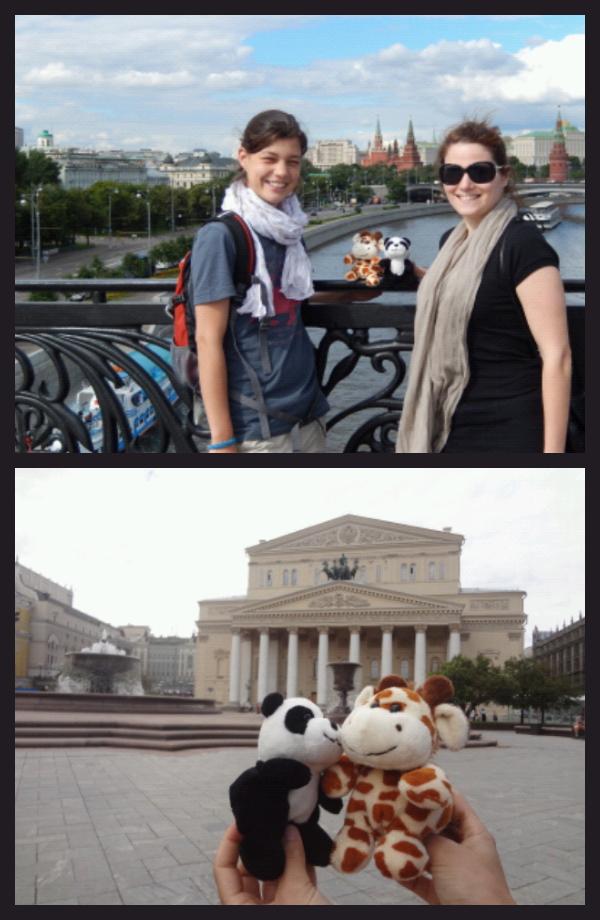 Les animaux n'étaient pas autorisés dans le Kremlin. Mais on leur a quand même montré de loin. Et ils ont également vu le Bolchoï.