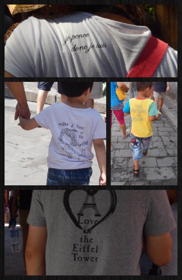défilé de jolis tshirts