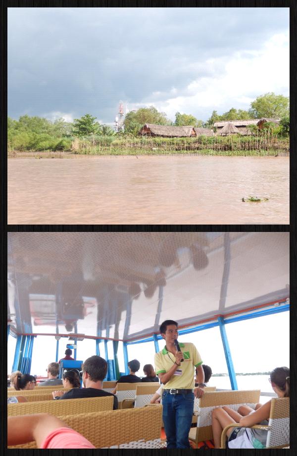 la couleur marron-terre-glaise-(un peu dégueu) du Mekong est caractéristique de la saison des pluies