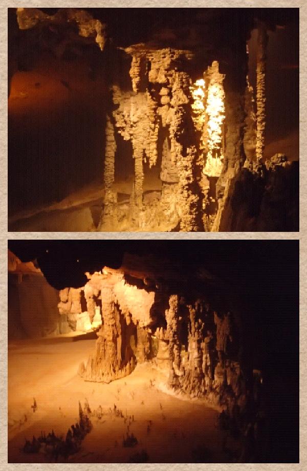 les photos ne rendent pas grand chose. Mais en vrai, c'était assez impressionnant. Des stalactites et stalacmites de partout. La nature est la plus forte.