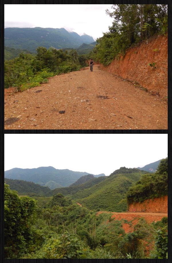 Après notre pause au village, nous avons voulu atteindre un second village indiqué dans le guide. Alors on a marché, enfin...grimpé, grimpé, grimpé, grimpé, encore grimpé. En fait, ça ne s' arrétait jamais. On a ptetre grimpé pendant 1h30 sans rien atteindre!  Pas sure que les photos montrent exactement cette pu**** de montée qui ne s' arrétait jamais. On a fini par faire demi-tour sans rien avoir vu :-/