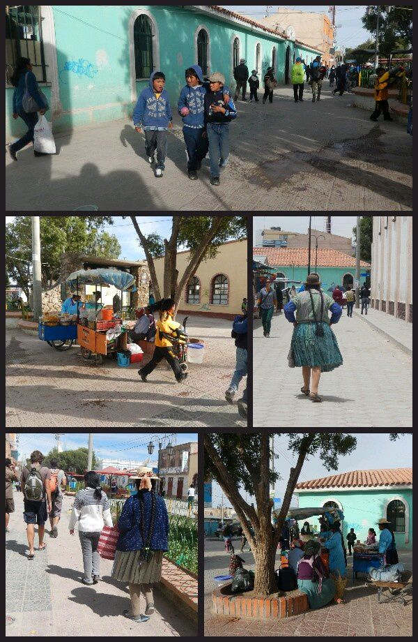 les femmes en tenue traditionnelle. Longues tresses, tunique. Les enfants apres l'école s' amusent à se faire des batailles d'eau dans la rue. Soit ils vous evitent expres, soit vous etes leur cible...