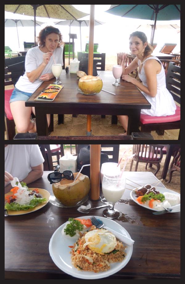 premier repas toutes les 3 sur la plage :-)