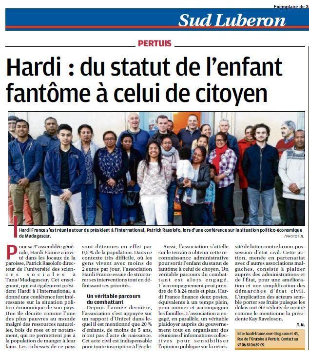 Conférence et Assemblée Générale d'Hardi France
