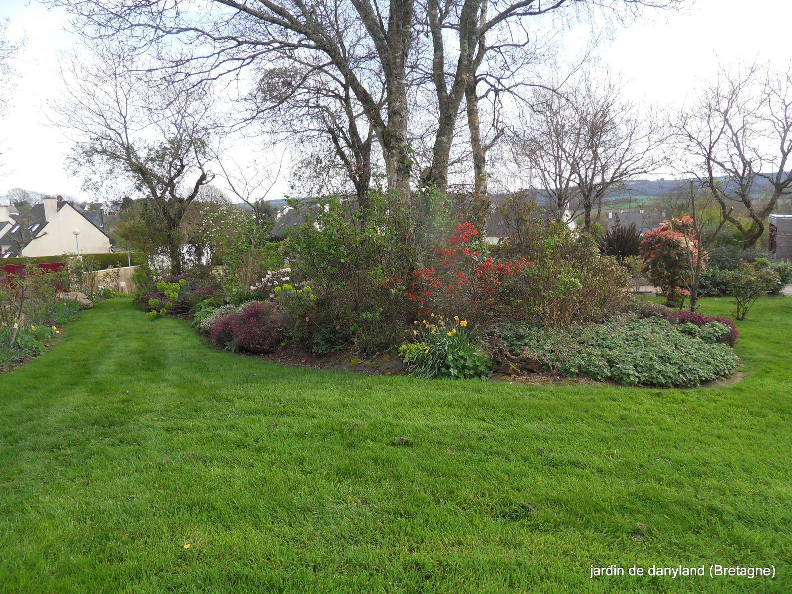 une fin mars sous le soleil et le jardin s'en ressent !!!!