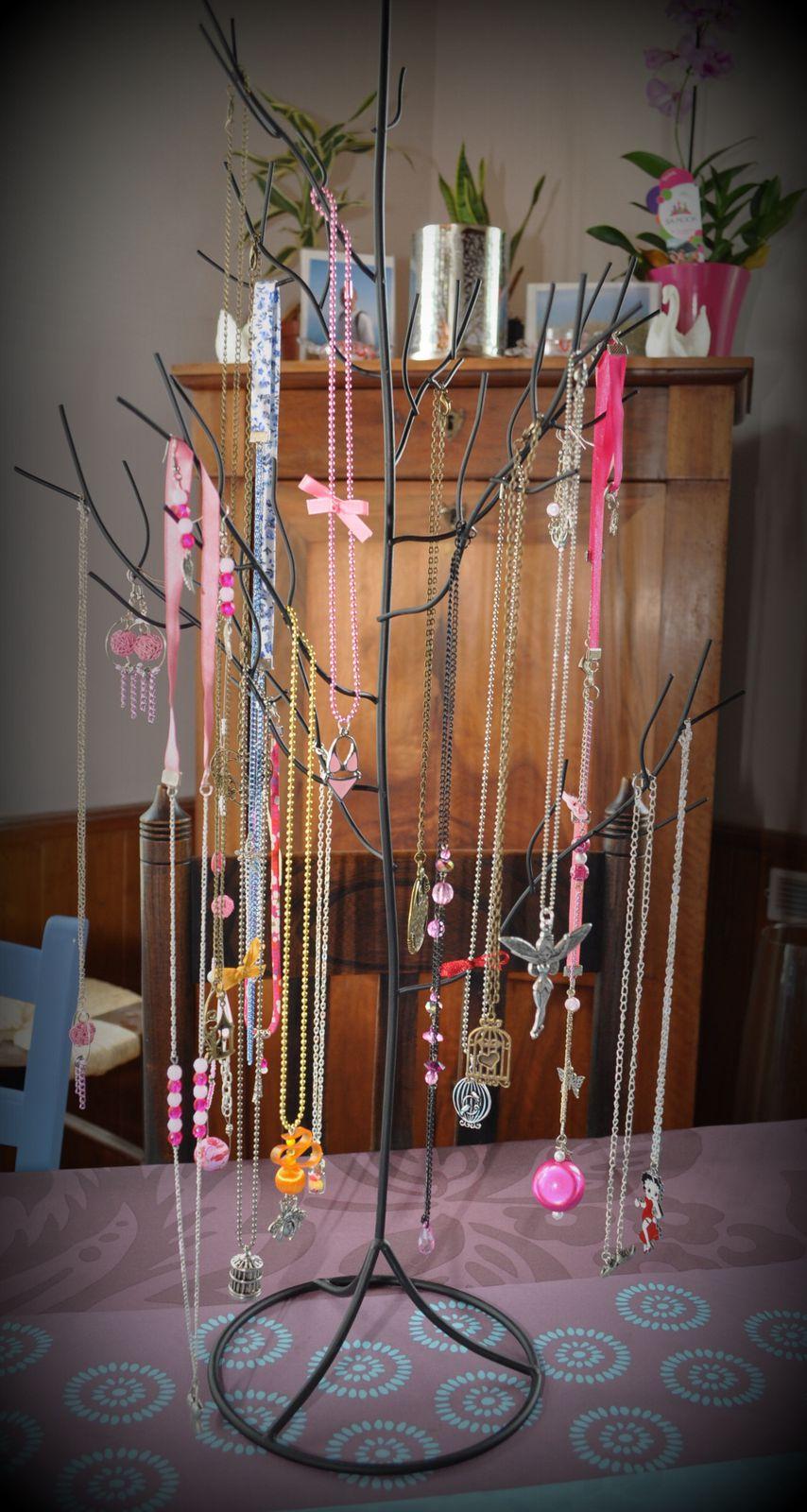 Présentation de mes bijoux lors de mes ventes à domicile
