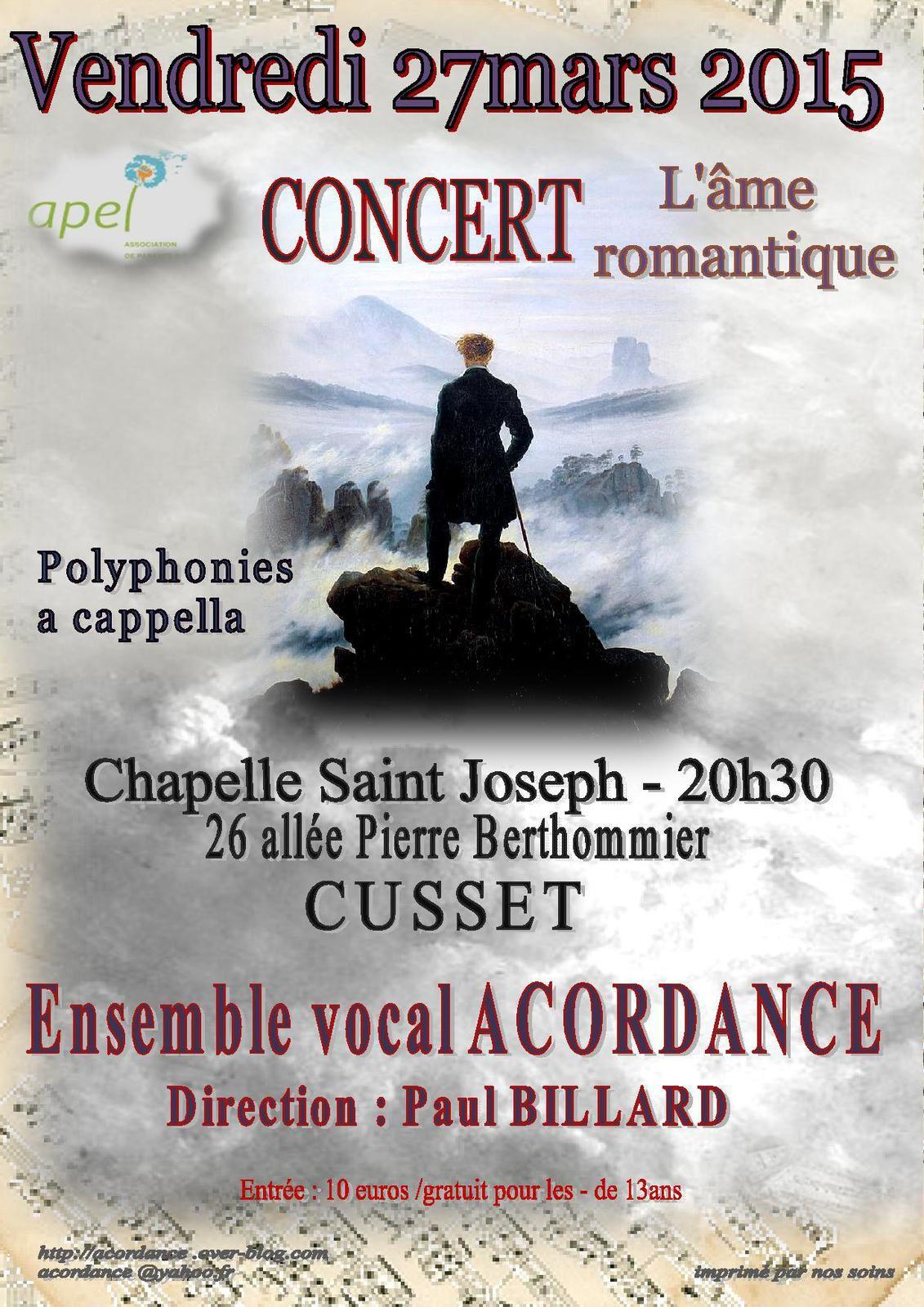 Concert du 27 mars 2015