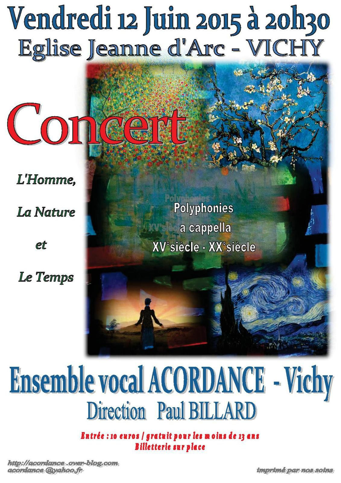 PROCHAINS CONCERTS de l'ensemble vocal ACORDANCE
