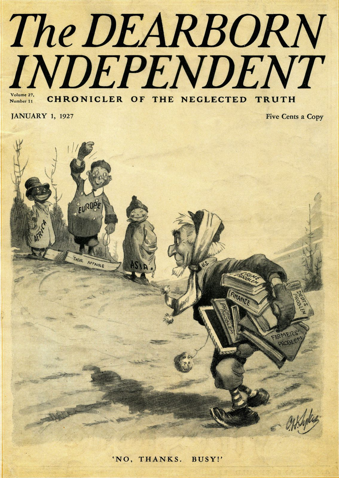 Vicente Blasco Ibañez and The Deadborn Independant on 1927.