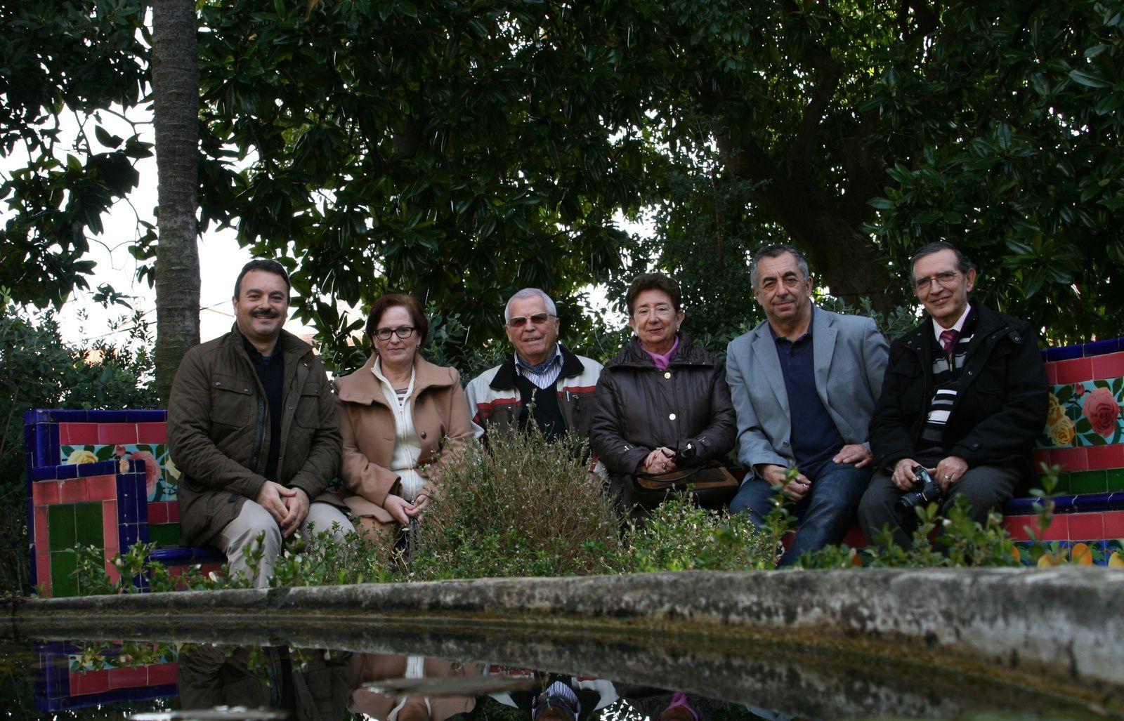 Visite de Mme et Mr Angel Lopez Garcia à Fontana Rosa le 14 février 2014 : (de Gauche à Droite - Mr Alain Delaboudinière, Mr Patrick Estève, Mr Angel Lopez Garcia, Mr Pierre Gerbaudo)