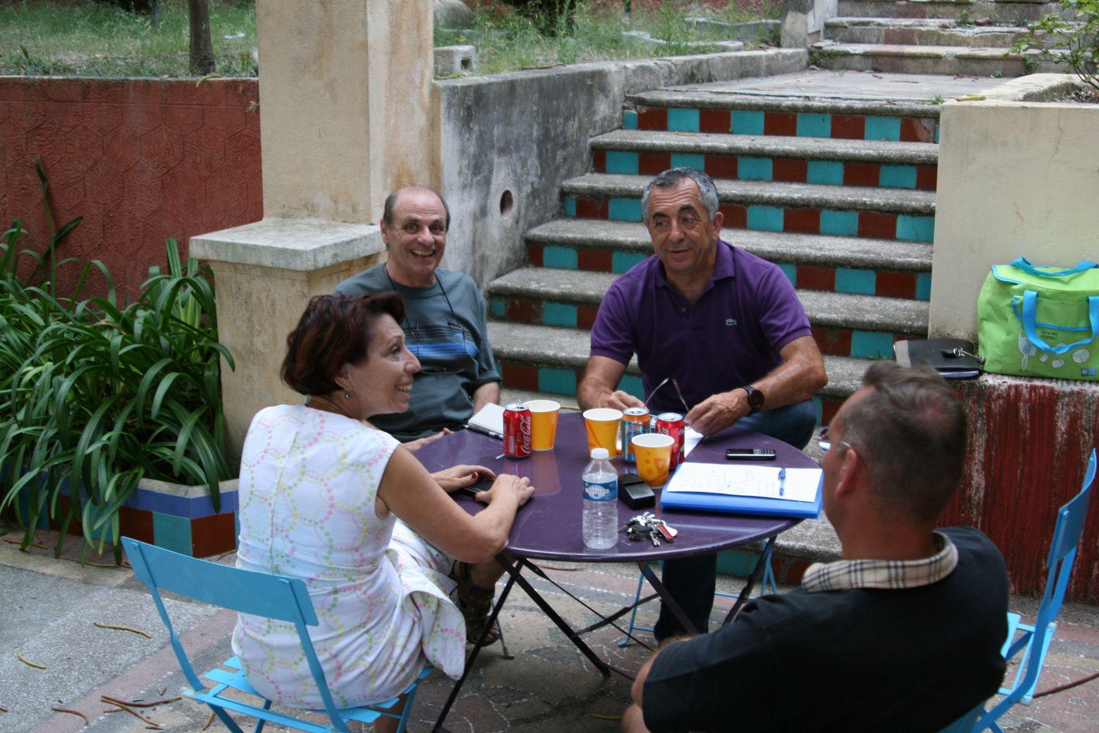 Réunion de rentrée du Bureau du Cercle Blasco Ibañez à Fontana Rosa
