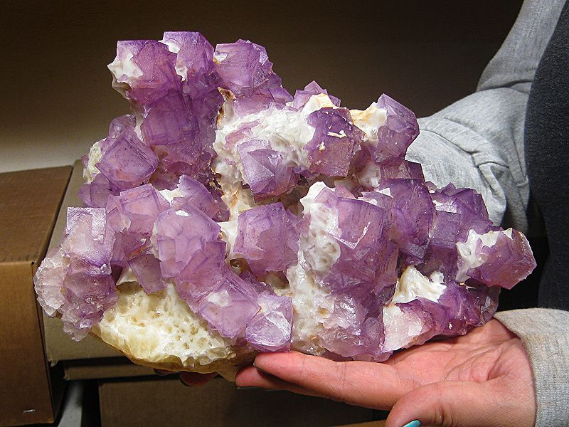 Fluorine Calcite de Leijei, Chine (Photo: Mine Rat)