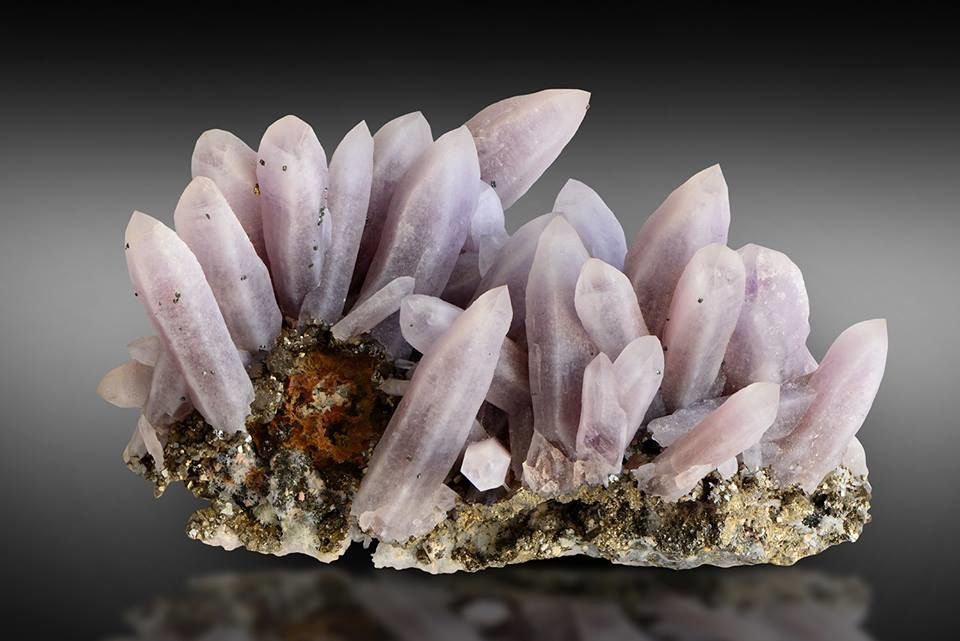 Amethyst on pyrite from Turt, Romania (Collection & photo Albert Russ)