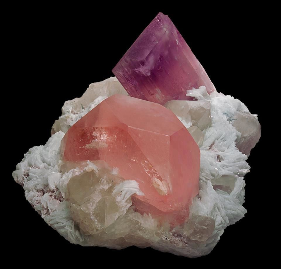 Kunzite and Morganite from Pakistan (pièce de Mim muséum)