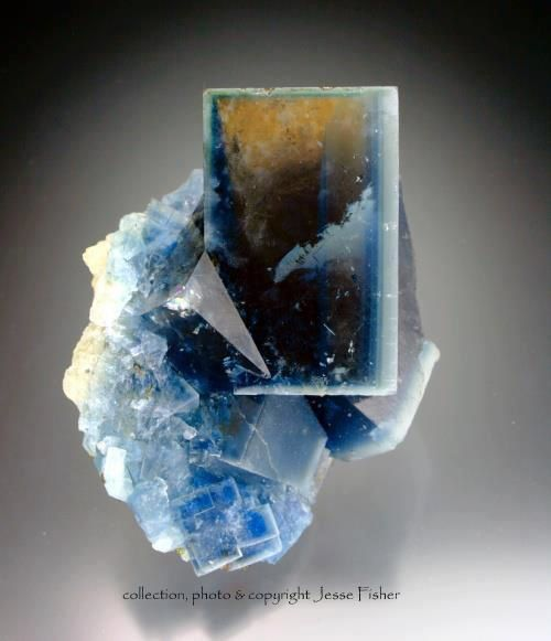 Fluorite from Grube Beihilfe mine, Halsbrücke near Freiberg, Saxonia, Germany (specimen and photo by Jesse Fisher)
