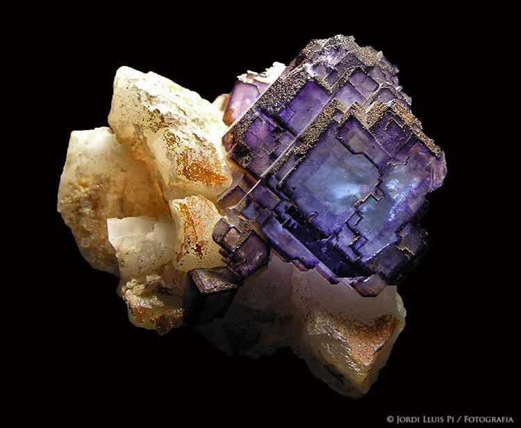 Fluorite from La Collada. Asturias, España (specimen and photo by Jordi Lluis Pi)