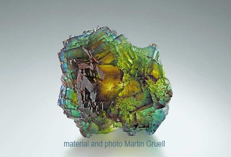 Fluorite from Saxony (specimen and photo by Martin Gruell)