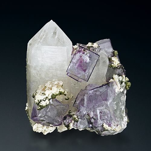 Fluorite from China (specimen and photo by Martin Gruell)