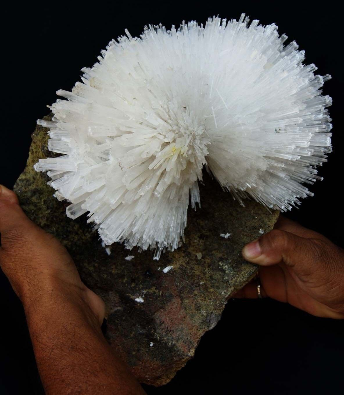 Big Scolecite flower from India (collection privée)