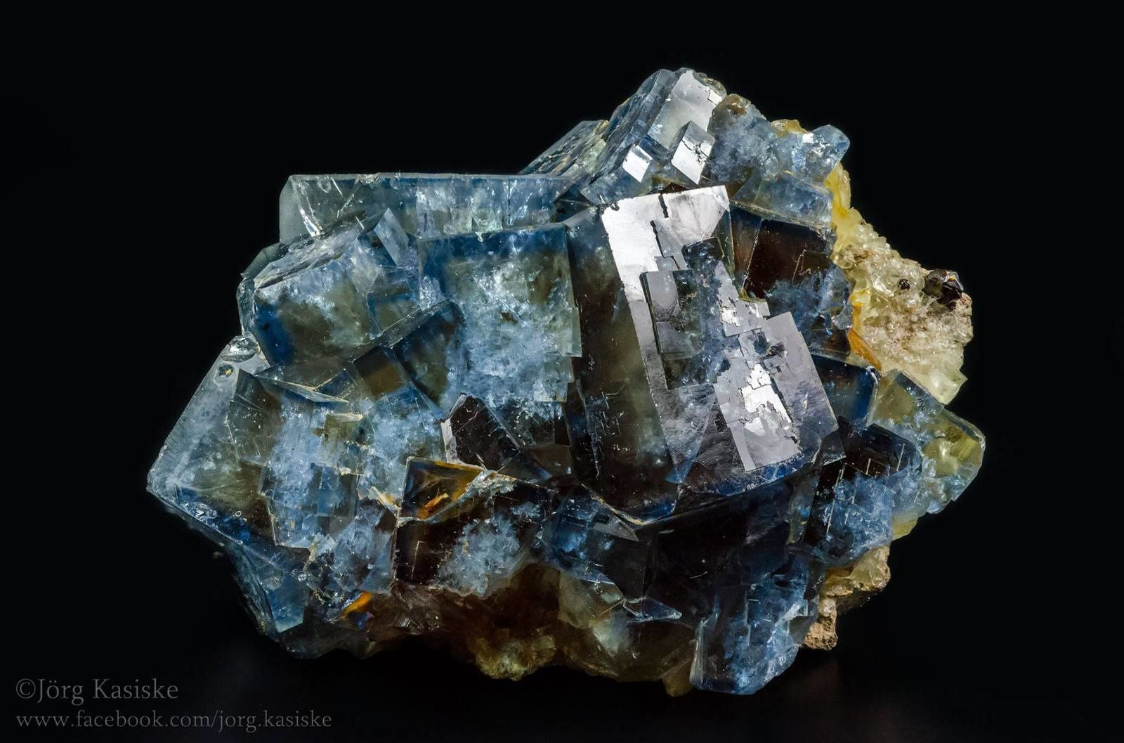 Blue Fluorite from Saxon, Germany (Specimen and Photo by Jörg Kasiske)