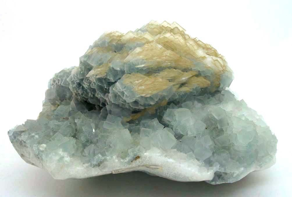 Fluorite with Barite from Yueyang, Taotian, China (private collection)