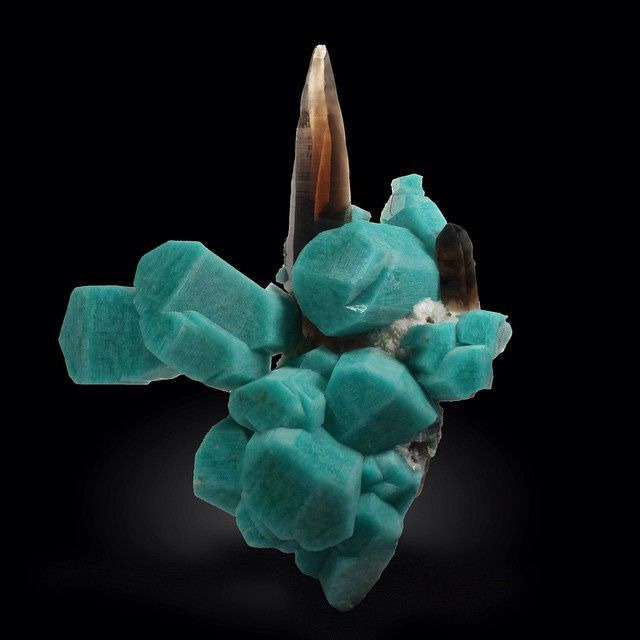 Amazonite and Smokey Quartz from Colorado, USA (specimen: Spirifer Minerals, photography: Joaquim Callén)