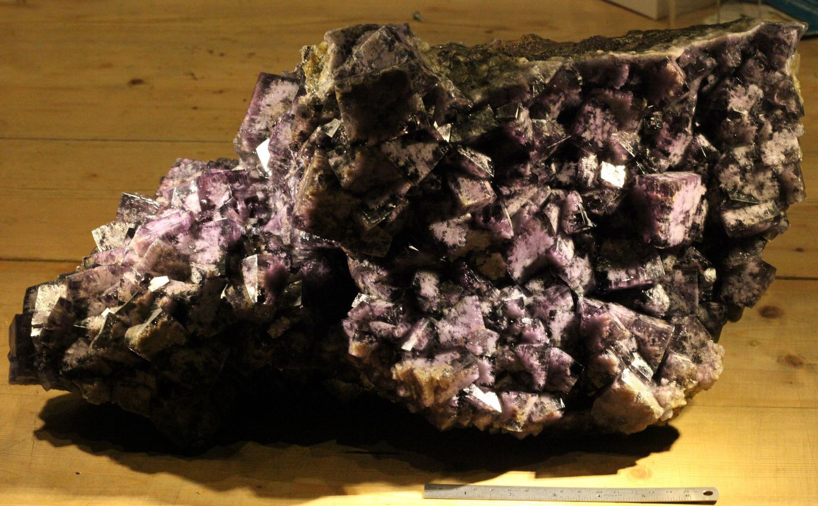 Fluorite from Greenlaws Mine, Daddry Shield, Weardale, England (specimen and photo by Peter Ward)