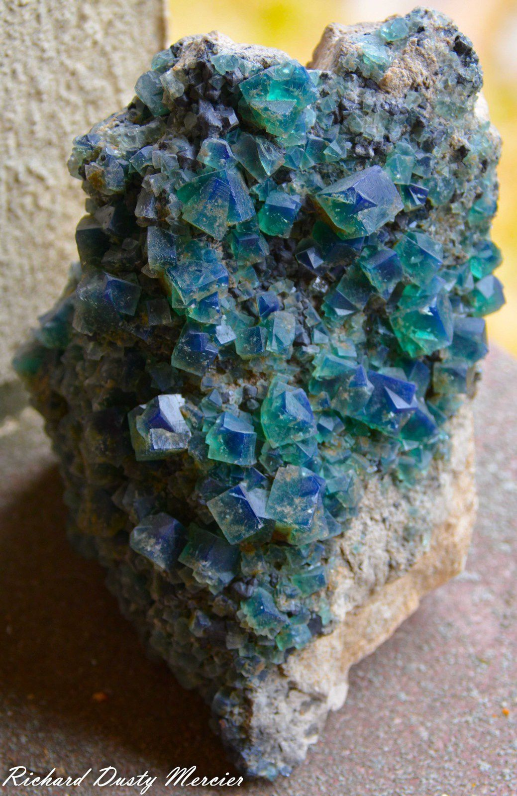 Fluorite (Fluorine) from Rogerley mine, Durham, UK (GB) (size: Museum)