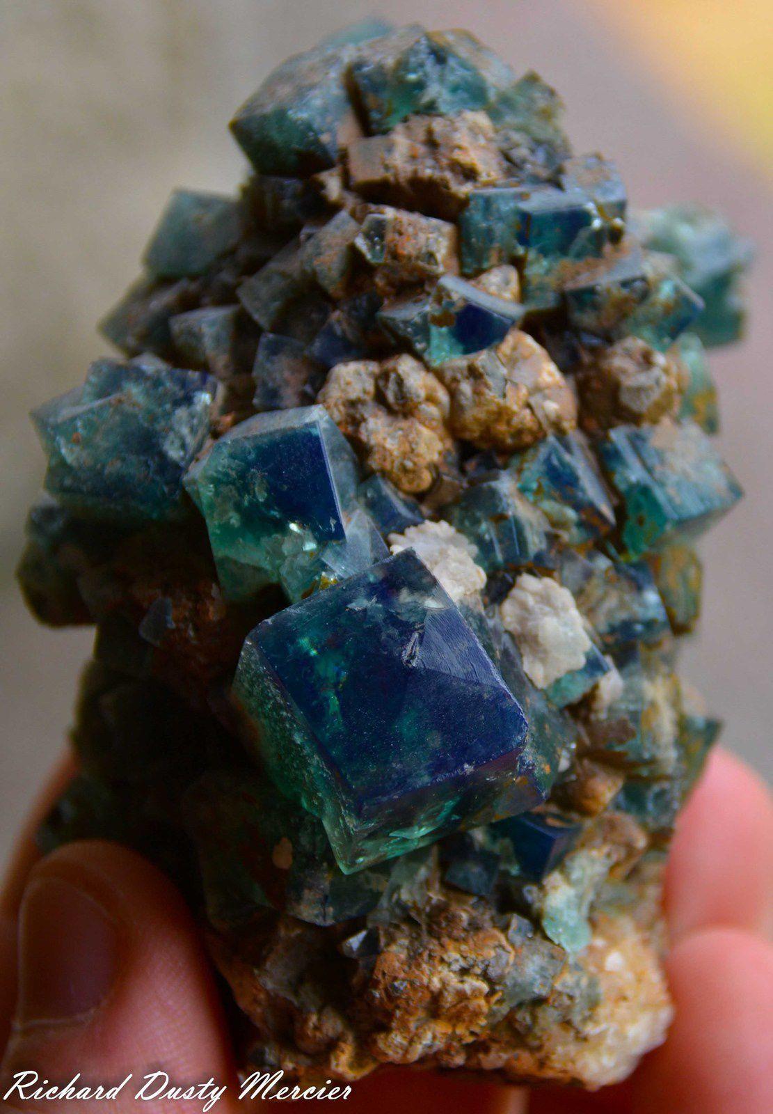 Fluorite (Fluorine) from Rogerley mine, Durham, UK (GB) (size: Small cabinet)