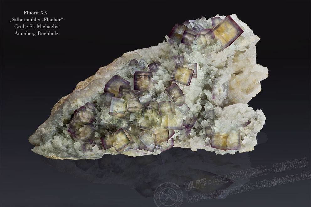 "Fluorite from Germany (specimen and photo by Olaf Bergzwerg Artin ""Augenblick fotodesing"")"