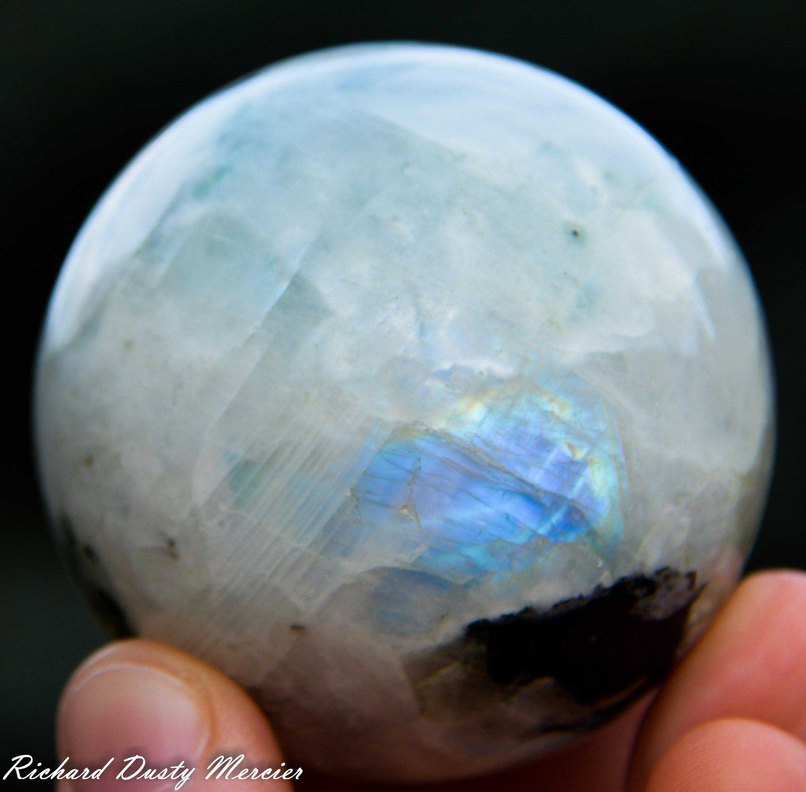 White Labradorite from India (size: Small Cabinet)
