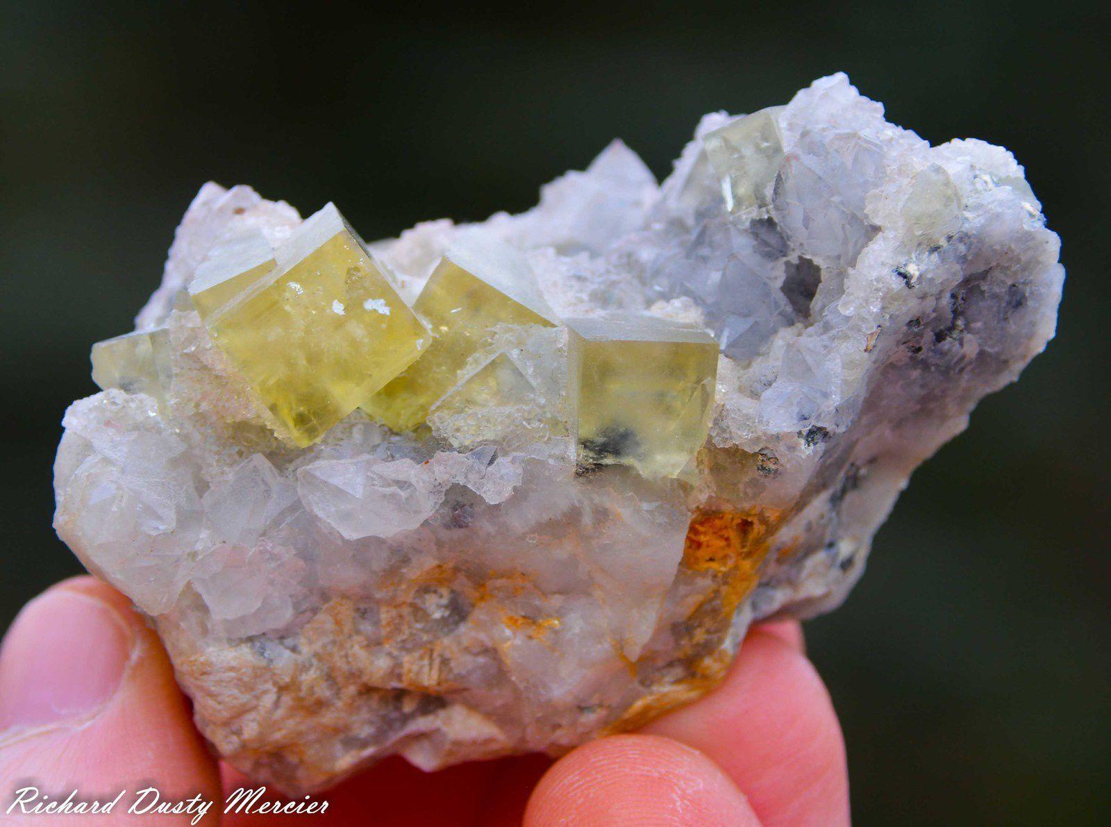 Fluorite (Fluorine) with Quartz from Aouli, Midelt, Morocco (Maroc) (size: Small Miniature)