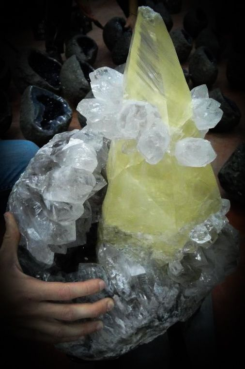 Big Calcite with Quartz from Brasil (private collection)