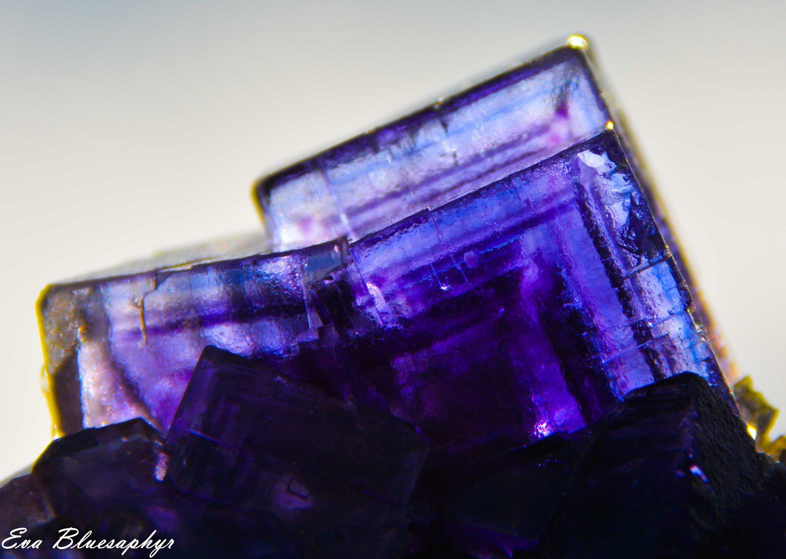 Blue Fluorite (Fluorine) from La Viesca, Asturias, Spain (Espagne) (size: Miniature)