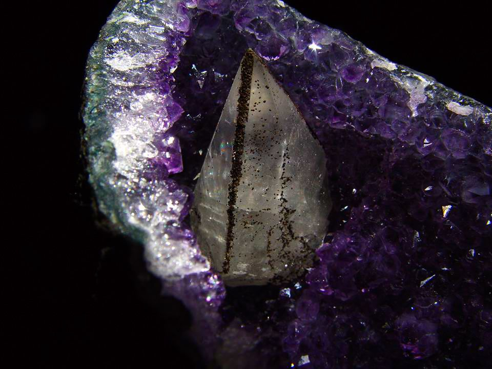 Amethyst with Calcite from Uruguay (private collection)