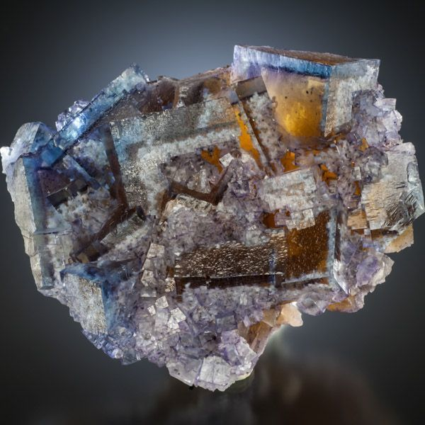 "Fluorite with Barite inclusions, Minerva Mine, Cave-in-Rock Dist., Illinois (private Collection, Photo: ""The Curator's"")"