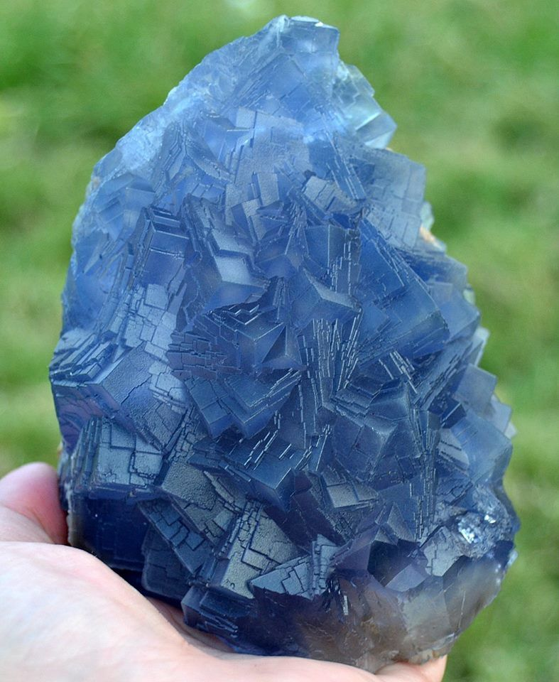 Blue Fluorite from Koh-i-Maran Mtn, Kalat District, Balochistan, Pakistan (Specimen and Photo by Qaiser Farooq)