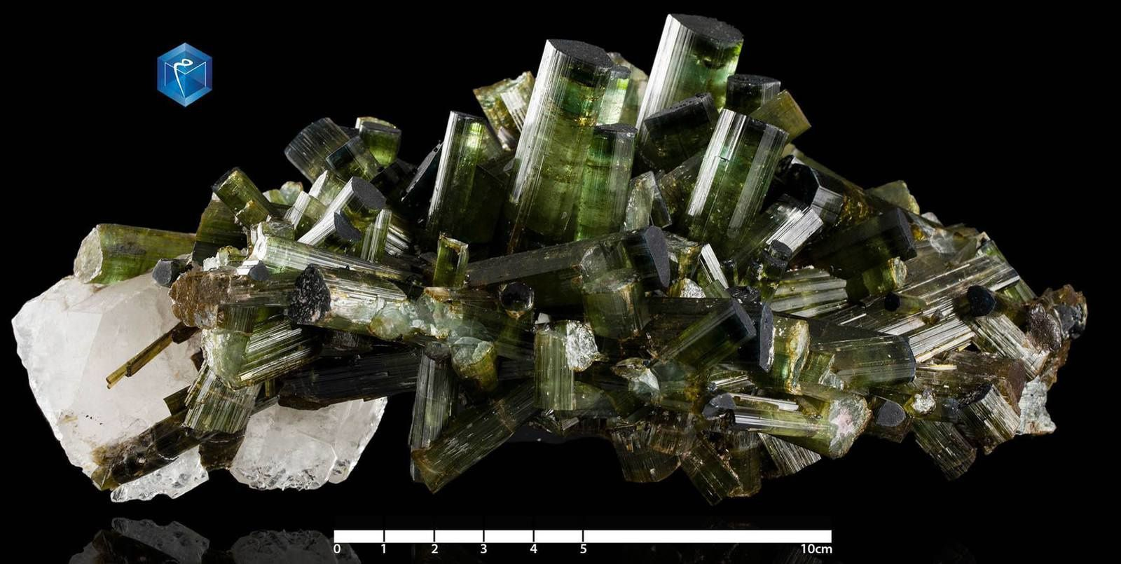 Green Tourmaline (Specimen and Photo by Mim Museum)
