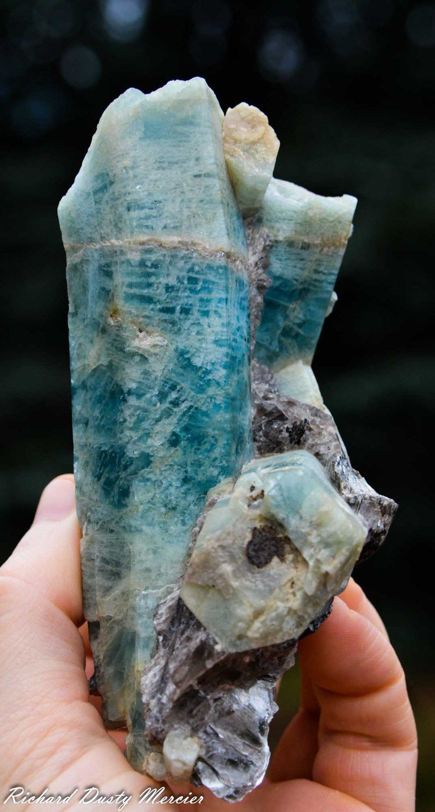 Aquamarine with Muscovite from Fiker Mine, Nagar Valley, Gilgit District, Gilgit-Baltistan, Northern Areas of Pakistan