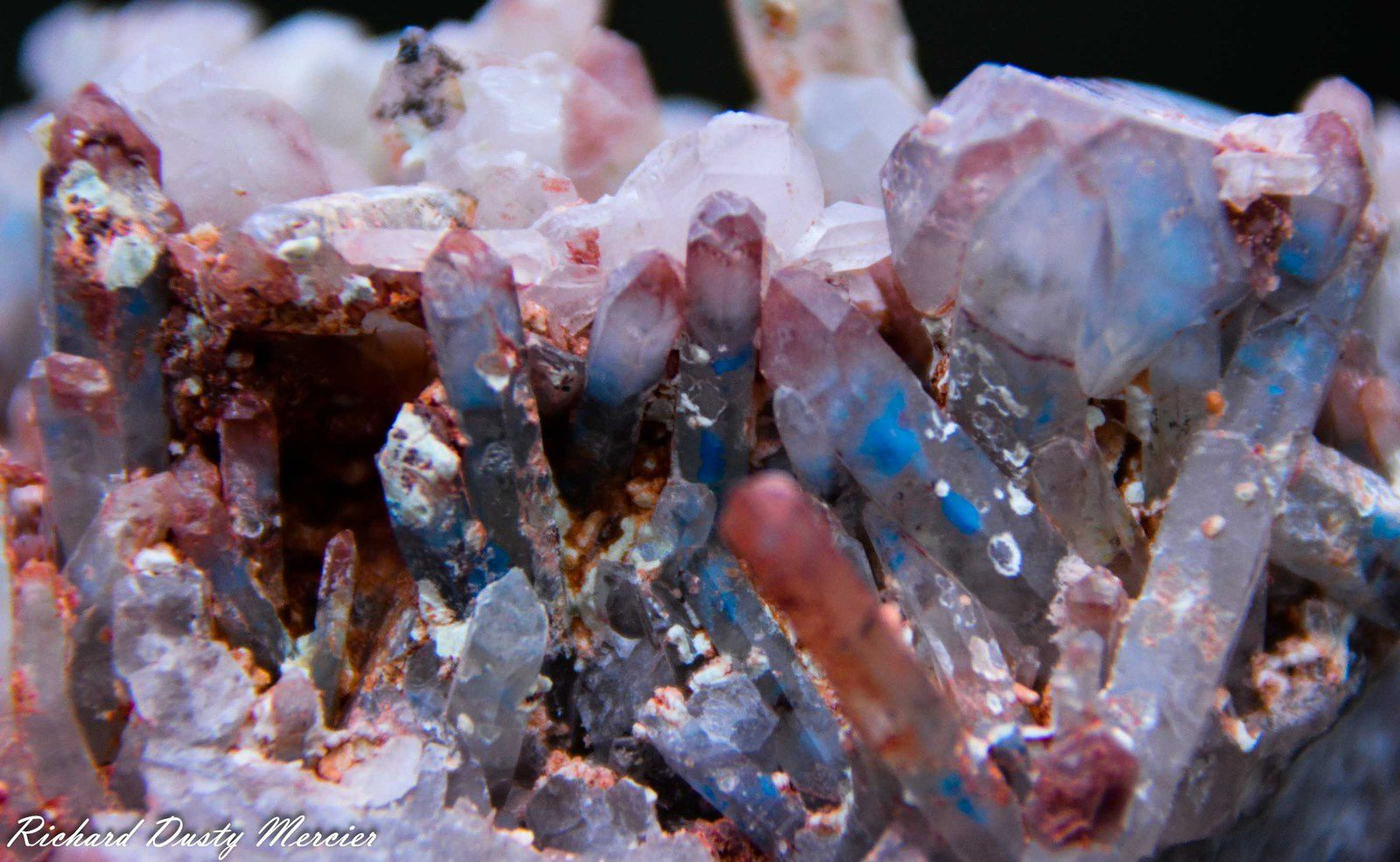 Quartz with Papagoite and Ajoite from Musina Copper Mine, South Africa