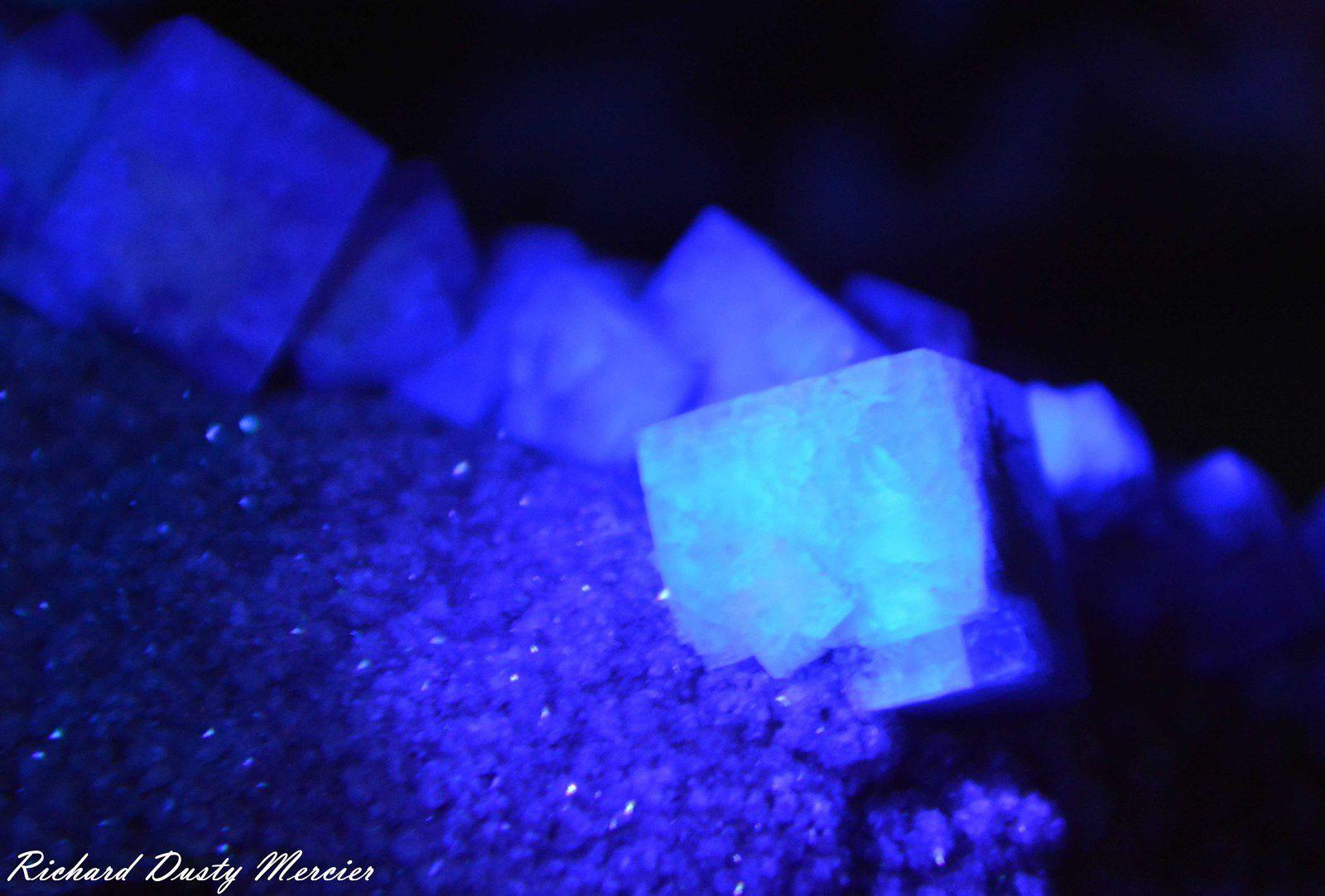 Fluorite (Fluorine) from Hollywell Mine, Frosterley, Stanhope, Durham, UK (GB) (size: Cabinet)
