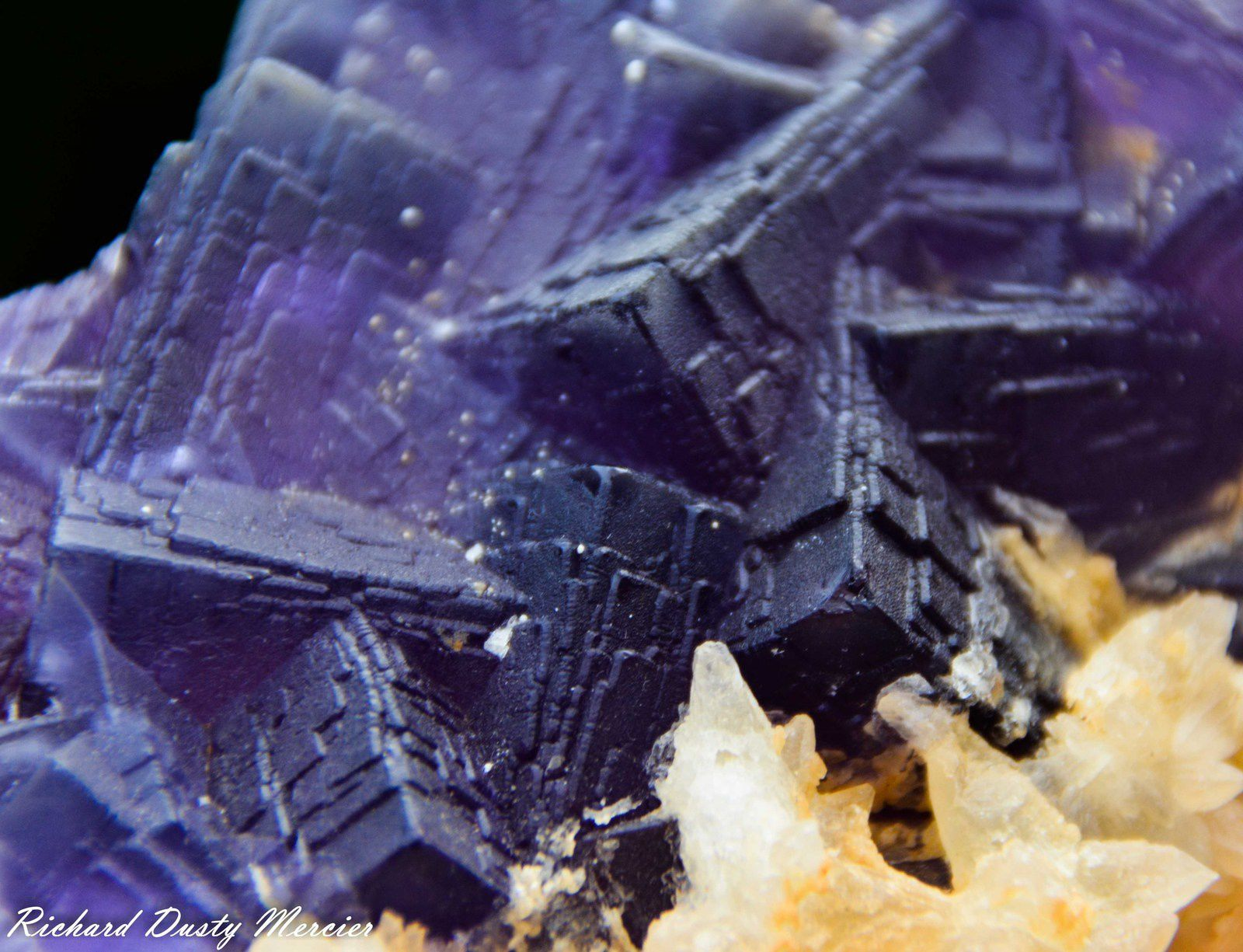 Fluorite with Calcite from Sanda mine, Loralai District, Balochistan, Pakistan