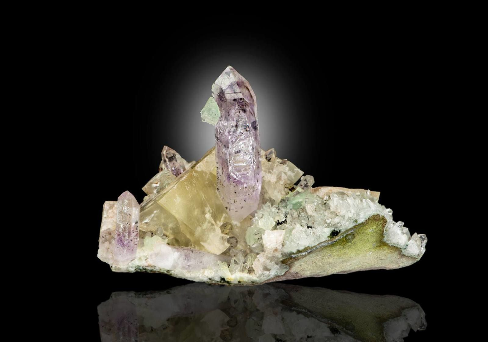 Amethyst Calcite from Namibia (specimen and photo by Blake Barnett)