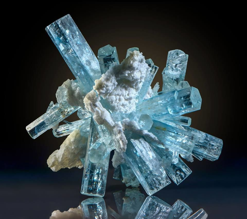 Aquamarine from Namibia ( specimen and photo by Kurt Story)