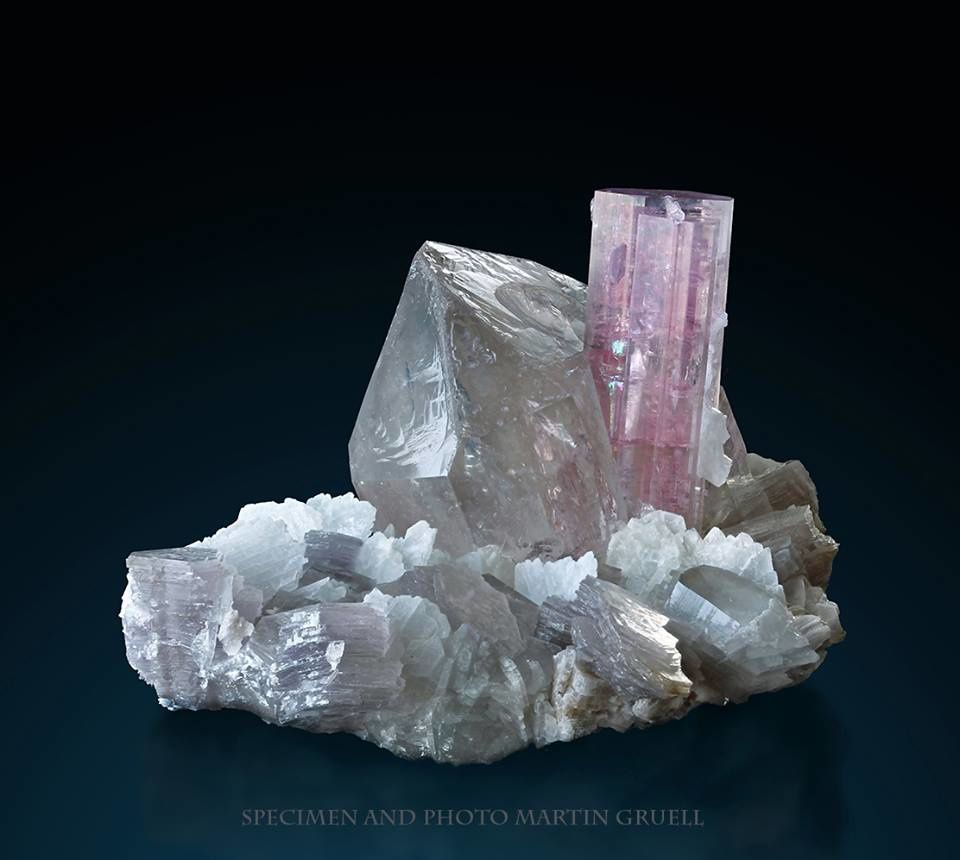 Tourmaline on Quartz (specimen by Martin Gruell)