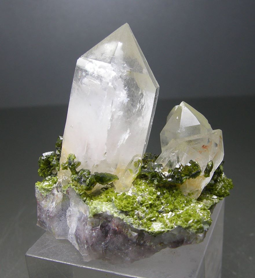 Quartz with Epidote from France (private collection)