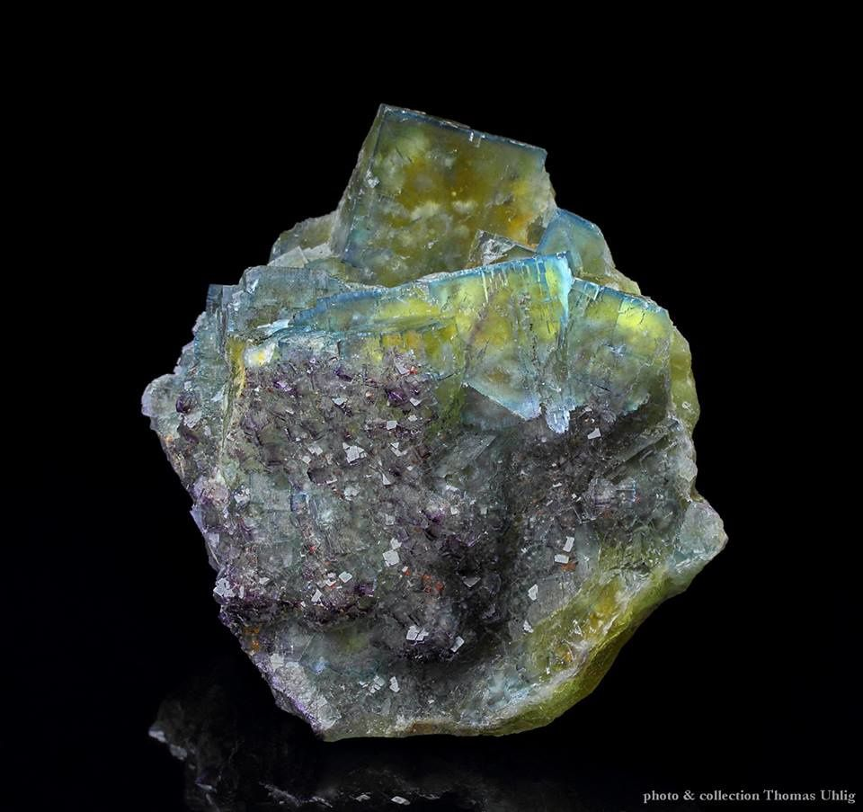 Fluorite from Shaft 78, Frohnau, Saxony, Germany (specimen and photo by Thomas Uhlig)
