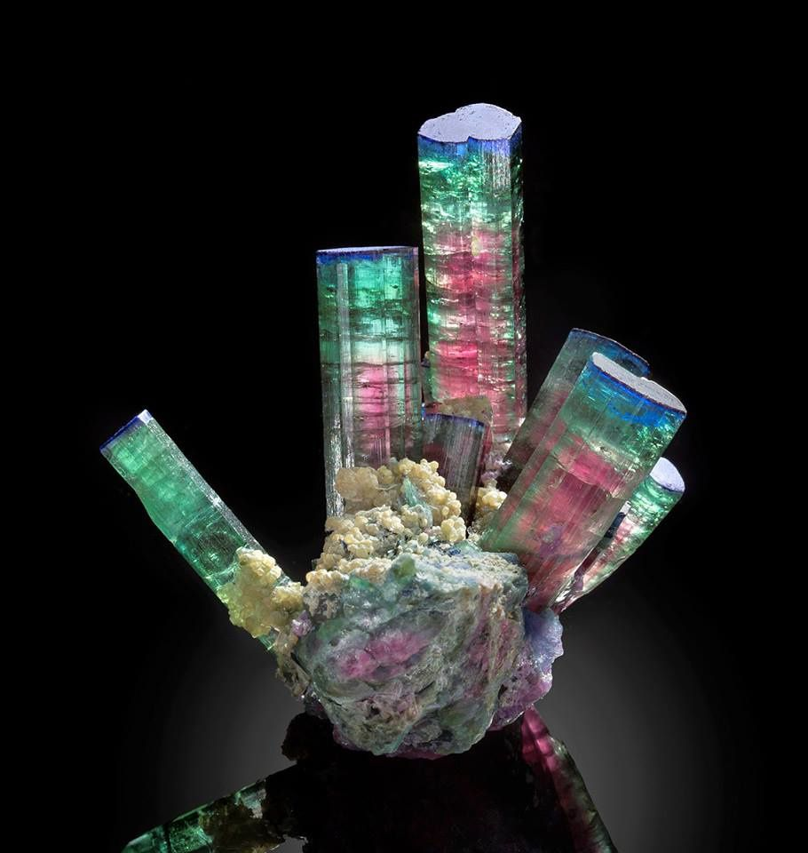 "Tourmaline ""melon d'eau"" ou ""watermelon"" (Photo: Jeffrey A. Scovil)"